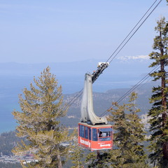 With beautiful views of Lake Tahoe, Heavenly is a hot spot for spring skiing.