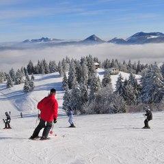 Belles conditions de ski sur le domaine de Métabief - ©Régis Ravégnani