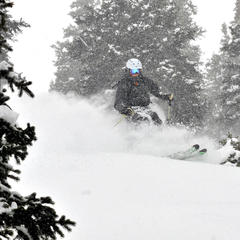 Persistent northwest flow and cold air kept the snow falling steadily at Breckenridge.