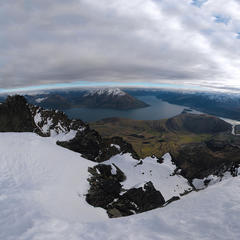 At the summit of The Remarkables