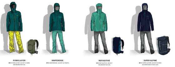 collection Patagonia Backcountry Touring femmes