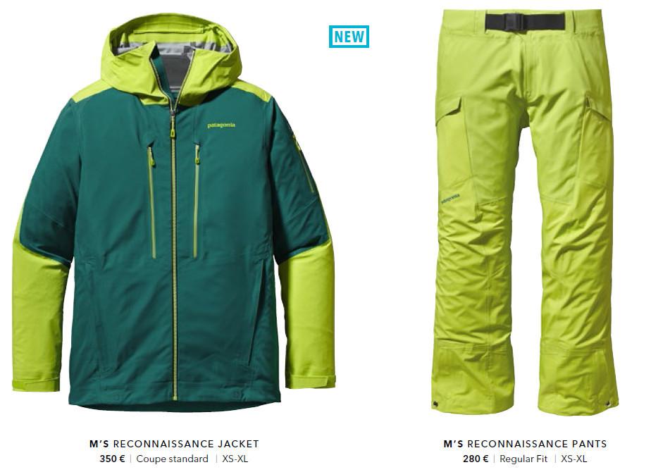 Tenue de ski (veste et pantalon) Patagonia Reconnaissance