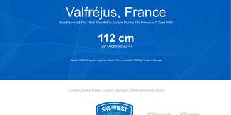 Snowiest Resort of the Week: Vianočný týždeň priniesol veľa snehu! Kam najviac? ©Skiinfo