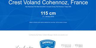Snowiest Resort of the Week (2/2016): Víťazstvo patrí znovu Francúzsku ©Skiinfo.de