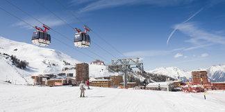 La Plagne : 10 stations de ski en une ©OT de La Plagne / Manu Reyboz