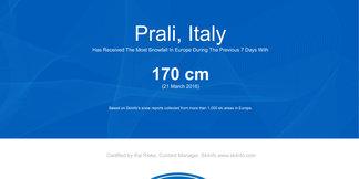 Najviac zasnežený je Piemont! ©Skiinfo