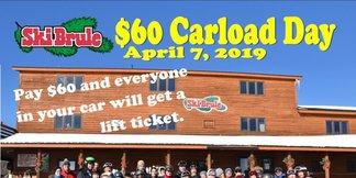 April 7,2019 $60 Carload Day ©Ski Brule