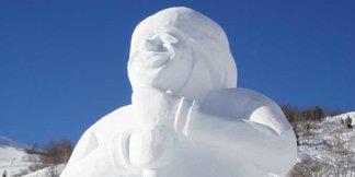 Europe's Tallest Snowman in Galtür