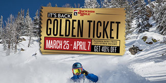 PASSHOLDERS AT ANY RESORT RECEIVE 40% OFF JHMR LIFT TICKETS MARCH 25-APRIL 7, 2019 ©Jackson Hole Mountain Resort