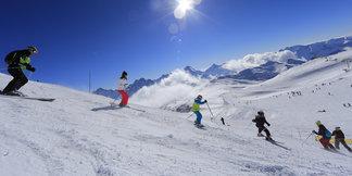 Les 2 Alpes version Printemps du Ski... ©Office de Tourisme Les 2 Alpes / Monica DALMASSO