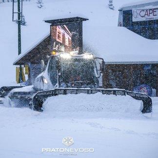 Piemont a čerstvý sníh (24.1.19) - © Prato Nevoso Ski Facebook