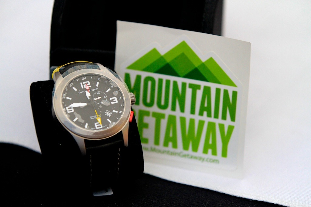 One of the two Momentum watches we raffled off this weekend at the GoPro Mountain Games  - © Tim Shisler