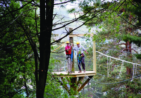 Zipline Canopy Tours at Okemo add one more adventure to the list of activities that can be done at the resort year-round. - © Okemo Mountain Resort
