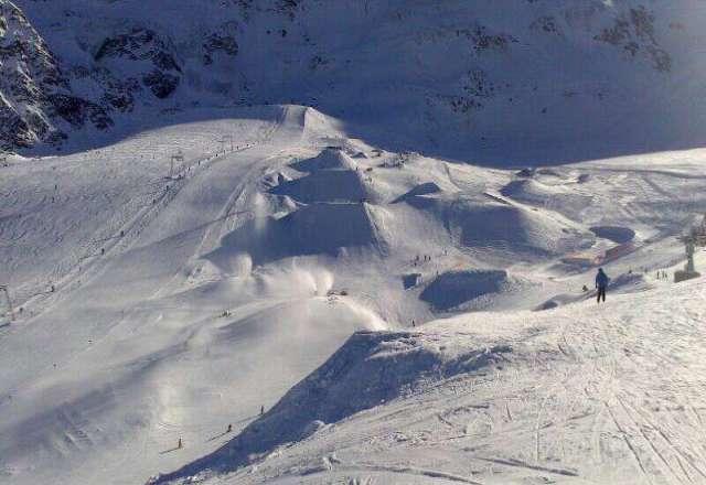 das skigebiet ist sehr sch?n, nicer Park f?r Freeskier