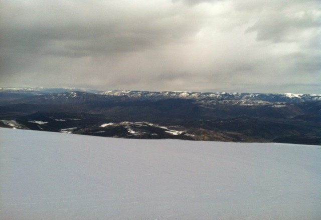 from the top of top cirque. windy up here!