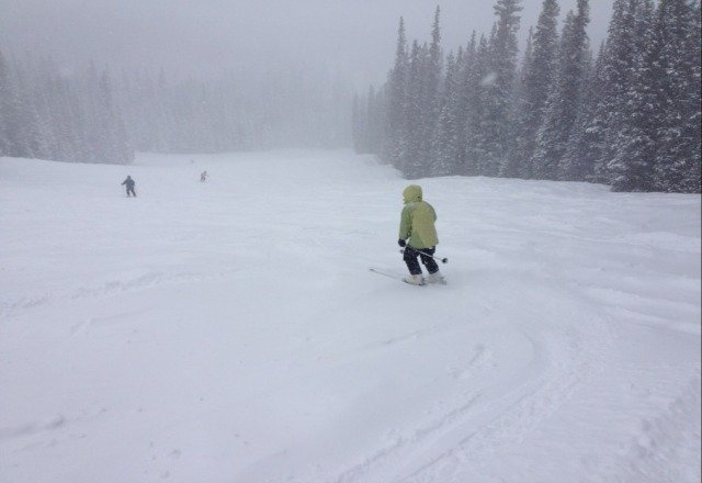 great powder. snow really coming down