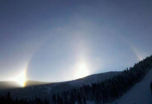 "A ""snowbow"" this morning at monarch predicted a wonderful day."