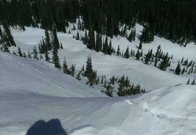#RespecttheWOLF Knife ridge, was an icy hike, but killer pow.