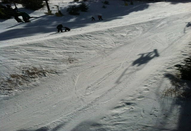 wam today. very soft and wet slope. stilll a good day
