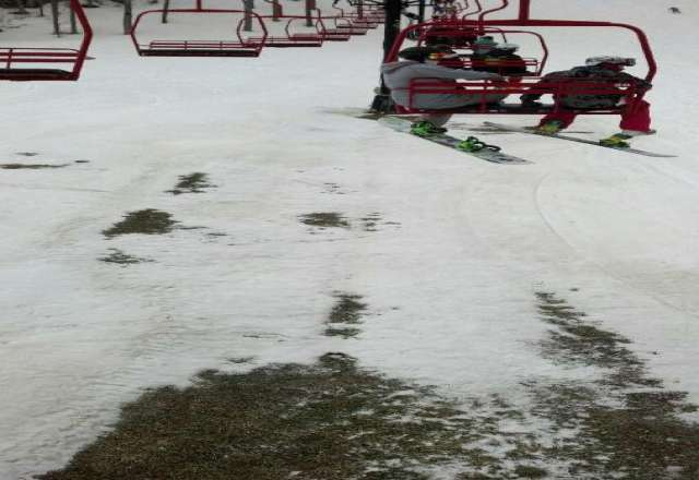 Snow was like sugar this morning, a little crunchy, but overall pretty good for the weather we've had. Some bare spots.