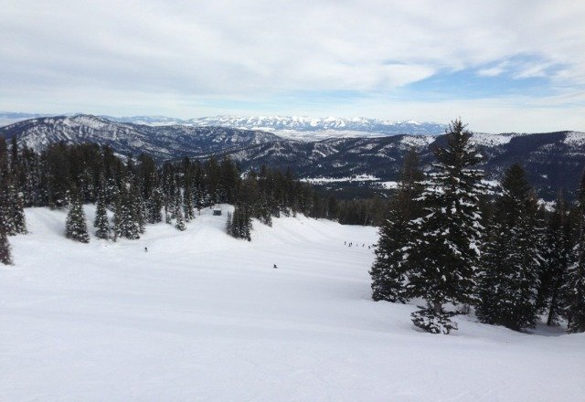 skied a great two days at bridger. could use some fresh snow but that's just being nitpicky.