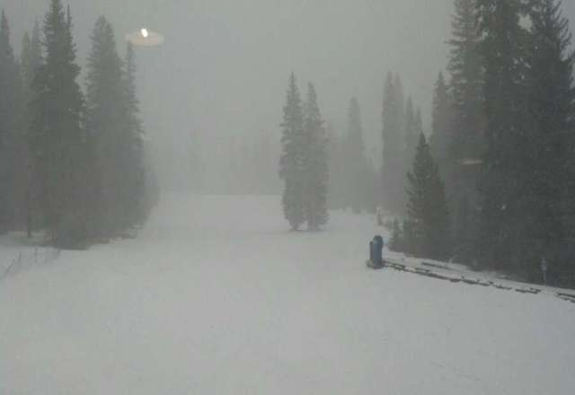 Dumping snow right now, so tomorrow should be good!