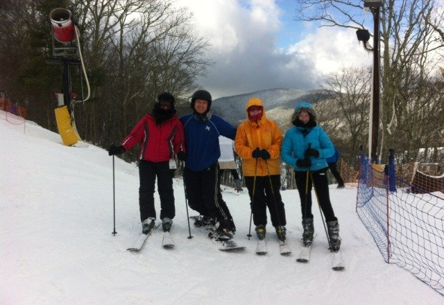 Great skiing today. The wind exposed some icy spots by the end of the day but oversll it was fantastic.