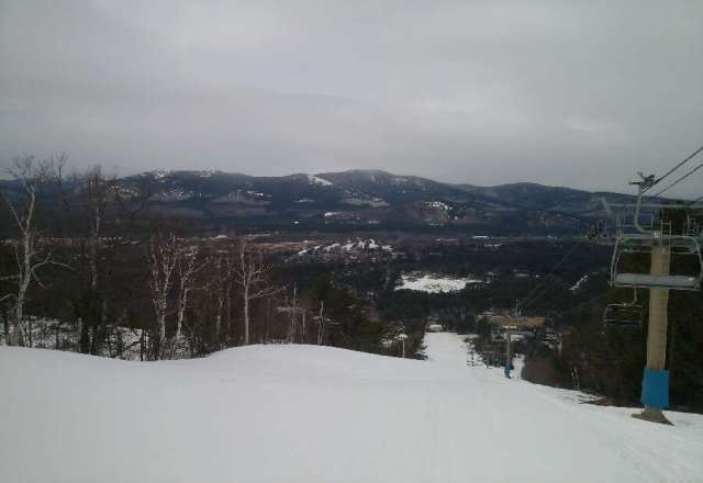 Spring skiing at Cranmore....fantastic today.