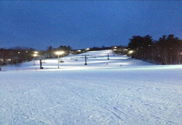 great conditions, and the slopes are empty.