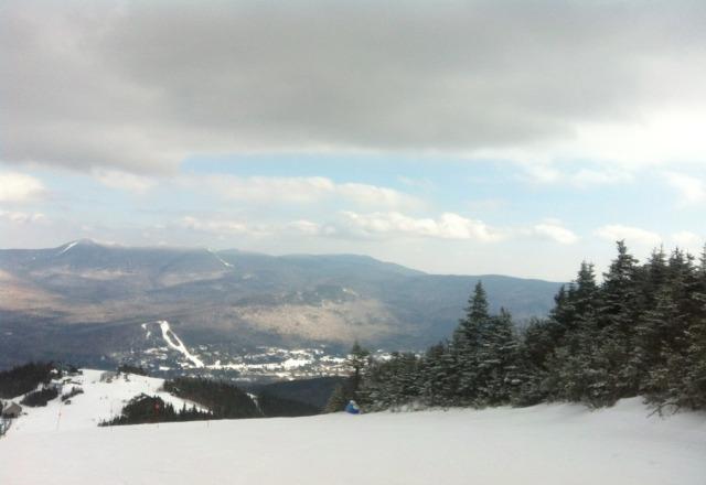 bluebird fri in the 40's perfect snow