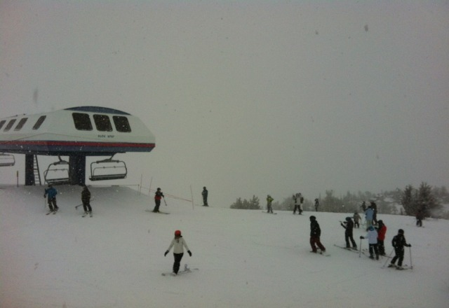 fresh powder all day on 3/3.. low visibility.. good day!