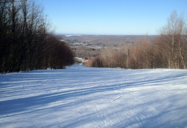 great spring skiing.  Packed snow and few icy areas