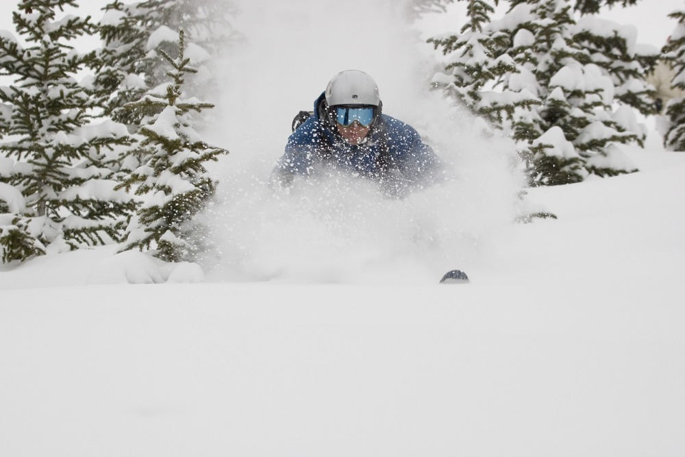 A skier finds some powder in Keystone, Colorado