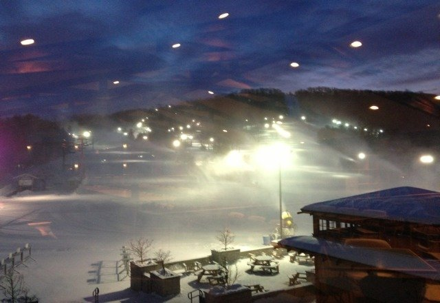 Backside is OPEN today! Also the mountain will be open until 1am with fireworks at midnight. Look for me in the black Ravens Ray Rice jersey!