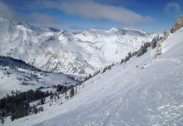 awesome day. nice snow stashes off wildcat and supreme!