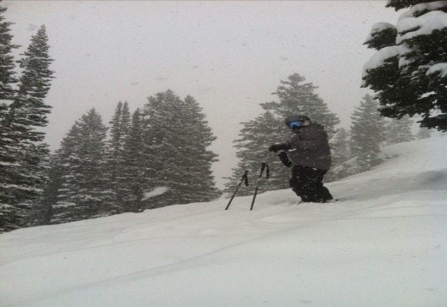 Nice Spring Powder day. Didnt expect this one. Thanks for a great day.