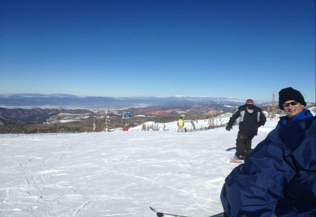 awesome day. fresh powder, hardly anyone here and perfect weather!!!