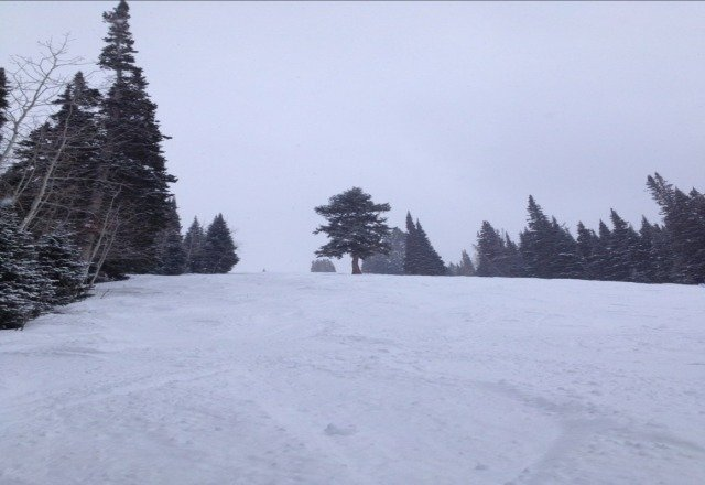 pow POW!!!snow report is way insccurate....been snowing all day. so fun!
