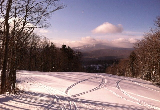 four inches of fresh powder. sunny and beautiful today. winter lives on