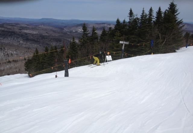 Grabin the freshie gnar pow at the cord - yea buddy epic