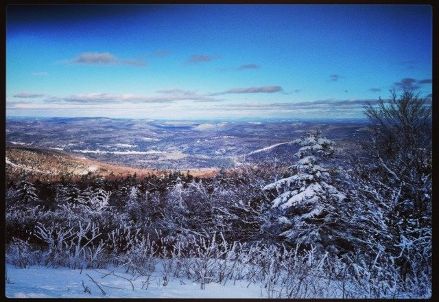 great day at okemo. a little icy on top and busy by the 1 but plenty of powder in the trees if you know where to look
