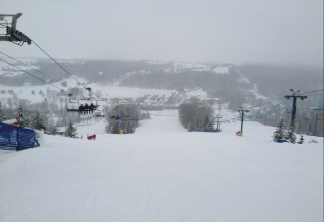 Skiing conditions are alsom