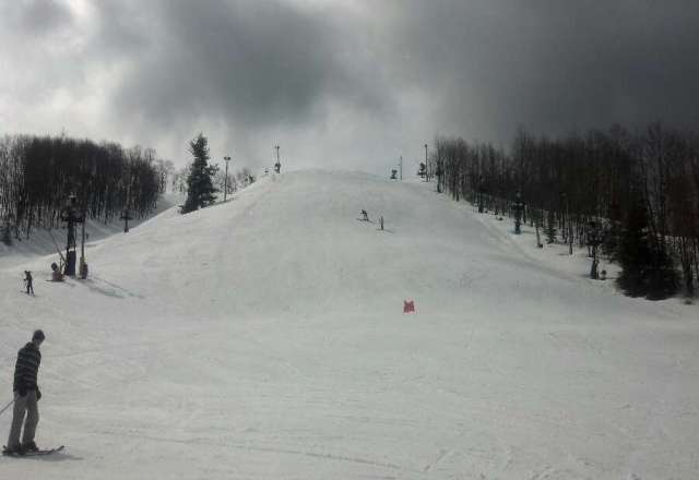 Conditions were good despite warm weather.  Several bare spots.  They could use another good snow