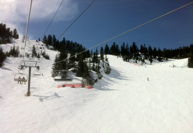 surprisingly good snow on the last day at cypress!