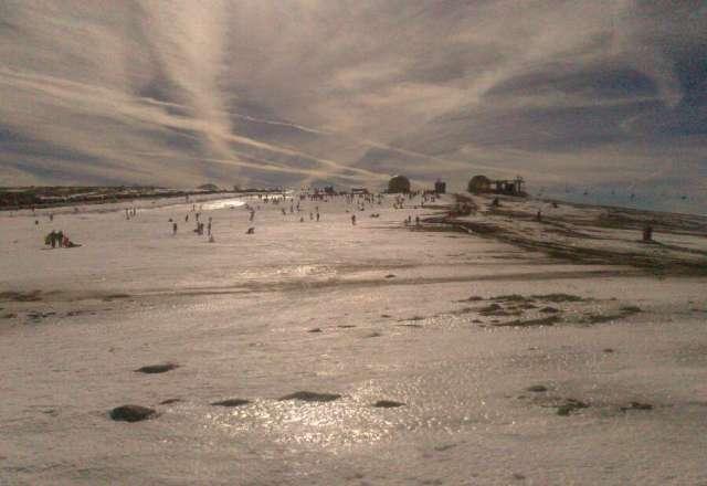 ontem teve um dia maravilhoso na serra com neve e bom tempo