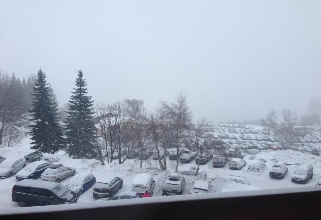 arrivee aujourd'hui sous la neige
