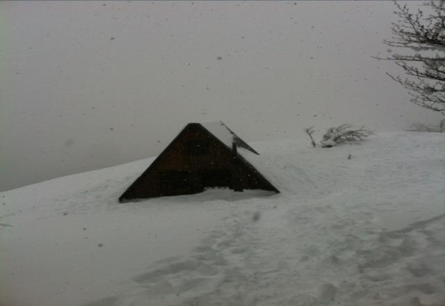 Oggi sono stato a scuare tanta neve dai 1400 metri a 1700...