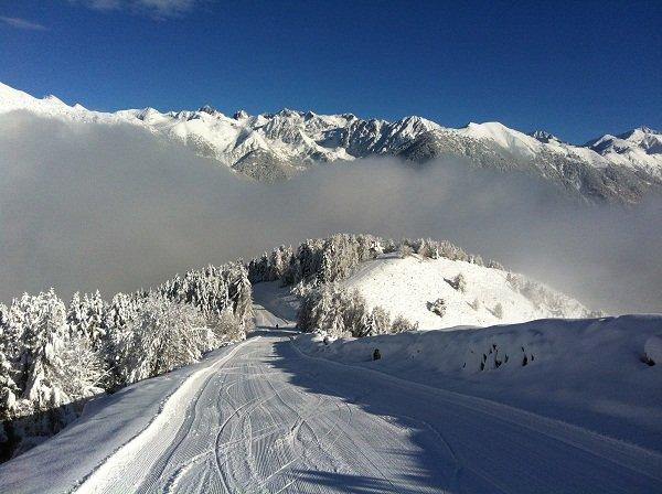 Sur les pistes de ski de la Colmiane, secteur Conquet - © JC Desens
