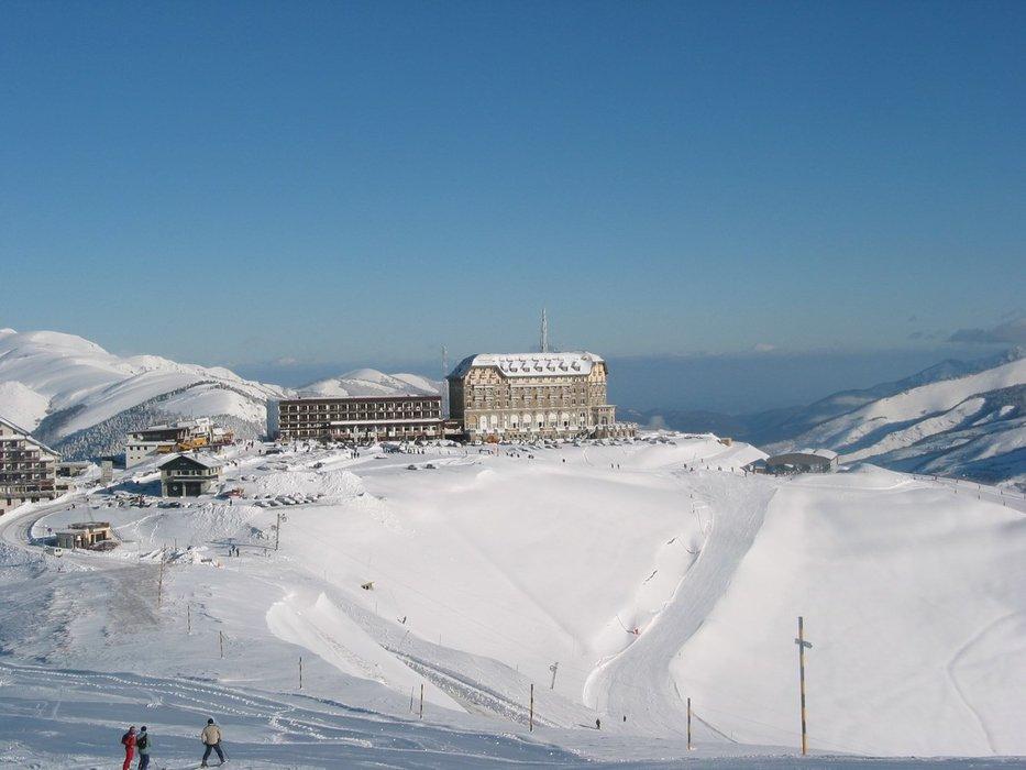 Sur les pistes de ski de Luchon Superbagnères - © OT Luchon