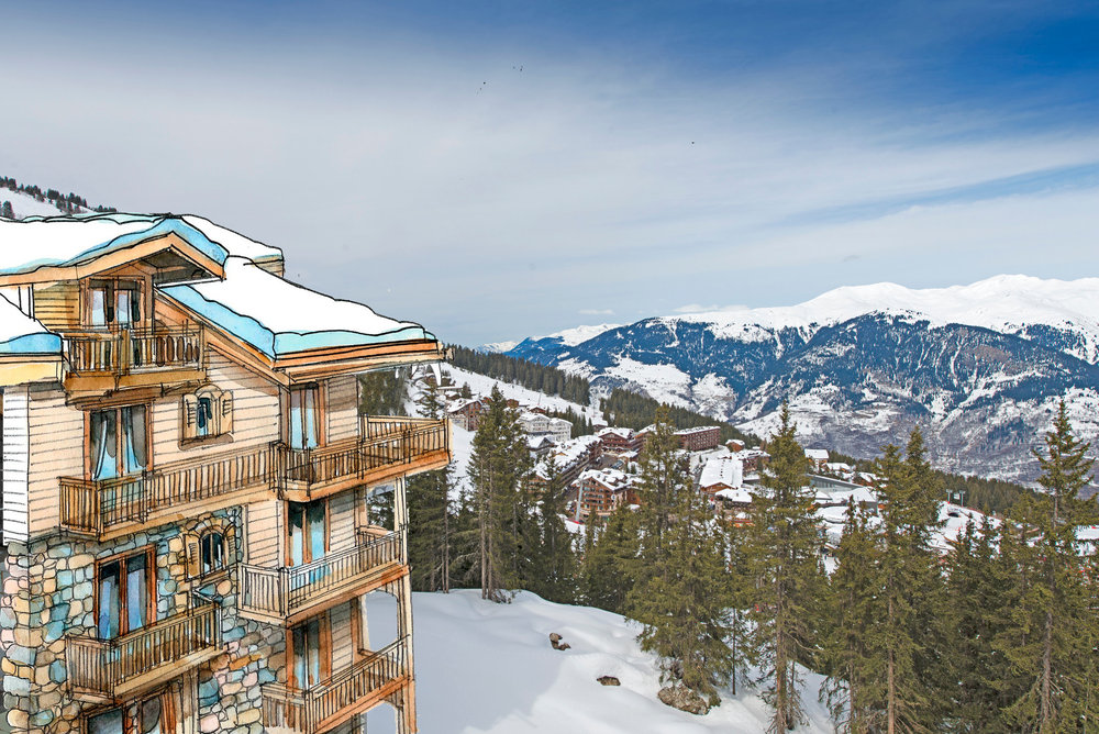Het nieuwe Oetker Collection Hotel l'Apogée Courchevel - © Alain Vouldoyre